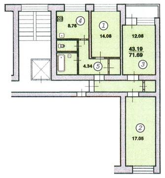 Трехкомнатная квартира на Ленской рядом с парком - Фото 2