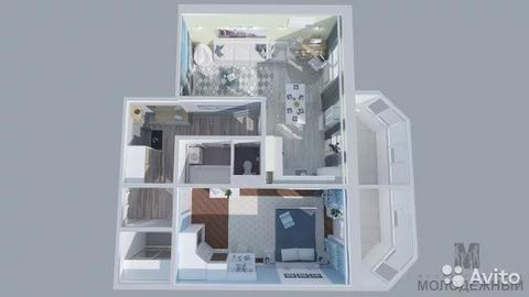 2-к квартира, 71.4 м, 11/12 эт. - Фото 2