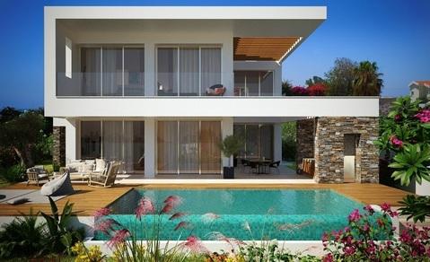 Роскошные новые 3-х и 4-х спальные виллы у моря в пригороде Пафоса - Фото 1