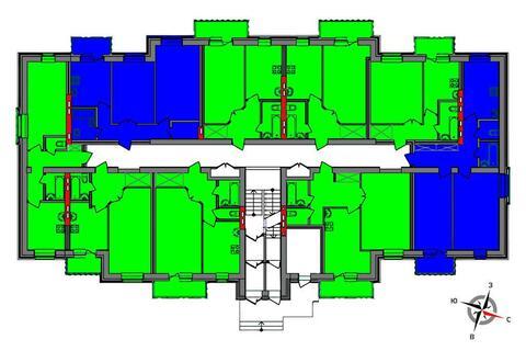 Продажа двухкомнатная квартира 54.2м2 в ЖК Чистые пруды дом 2 - Фото 2