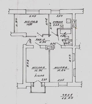Квартира 3-комнатная на 2-ой Садовой, Купить квартиру в Витебске по недорогой цене, ID объекта - 323535349 - Фото 1