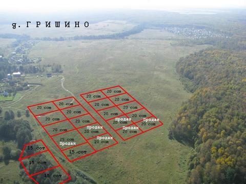 Продаётся участок 20 соток в д. Гришино Чеховского района - Фото 1