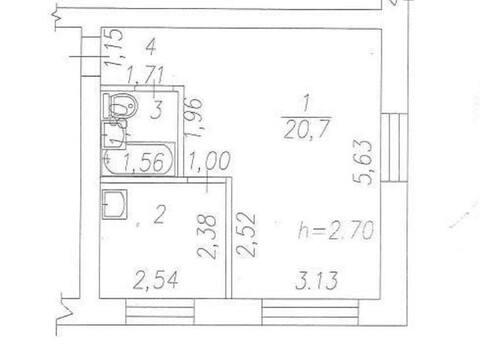Продажа однокомнатной квартиры на улице Мичурина, 39 в Новокузнецке, Купить квартиру в Новокузнецке по недорогой цене, ID объекта - 319828453 - Фото 1