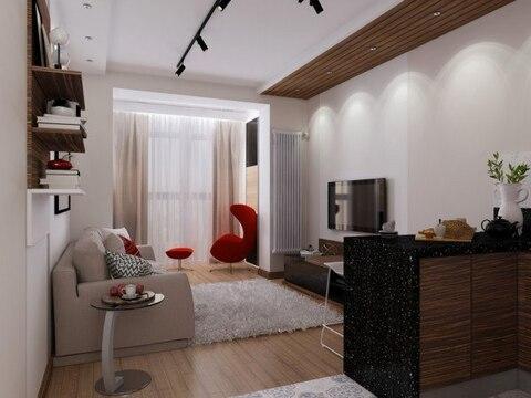 Квартира-студия в новом доме с индивидуальным отоплением - Фото 4