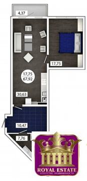 Продам 1 комнатную квартиру 70 м2 в ЖК «Castle Houses» - Фото 1