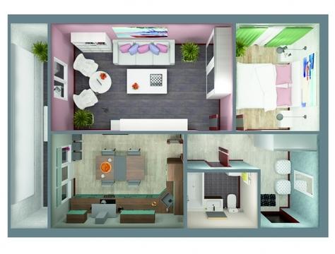 """2-комнатная квартира на ул.Гвардейская, в ЖК """"7 Квартал"""" - Фото 2"""
