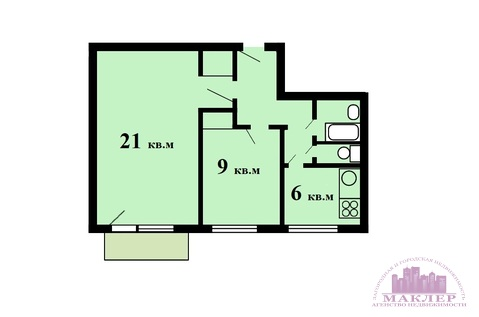 Продается 2-к квартира, г.Одинцово, ул.Маршала Бирюзова 24к2 - Фото 2