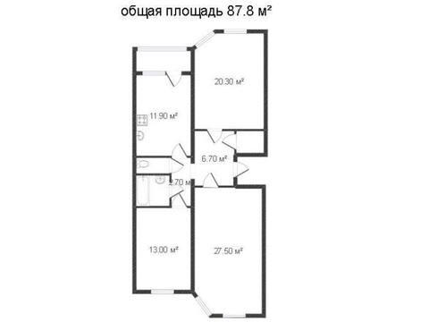 Продажа трехкомнатной квартиры на улице 65 лет Победы, 29 в Калуге, Купить квартиру в Калуге по недорогой цене, ID объекта - 319812779 - Фото 1