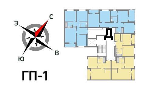 Продажа трехкомнатная квартира 72.16м2 в ЖК Солнечный гп-1, секция д - Фото 2
