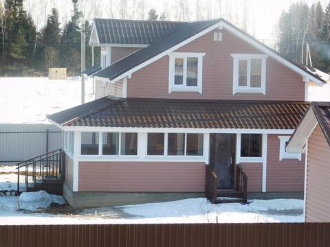Дом из бруса 145 кв.м. на земельном участке 14 соток. Киевское шоссе - Фото 1