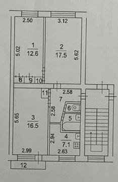 Продам 3-к квартиру, Фрязино город, Полевая улица 5 - Фото 1