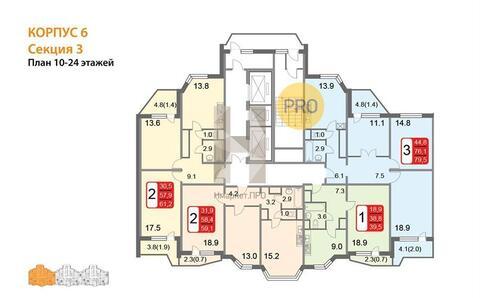 Продам 3-к квартиру, Москва г, 2-й Грайвороновский проезд 36 - Фото 4