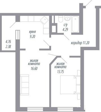 Объявление №61444338: Квартира 2 комн. Батайск, ул. Орджоникидзе, 2,