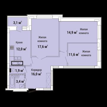 Продажа квартиры, Липецк, Елецкий ЖК - Фото 1