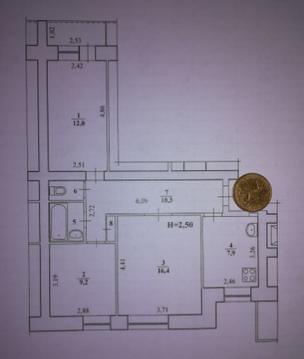 2 750 000 Руб., Квартира, ул. Триумфальная, д.28, Купить квартиру в Волгограде, ID объекта - 333752617 - Фото 1