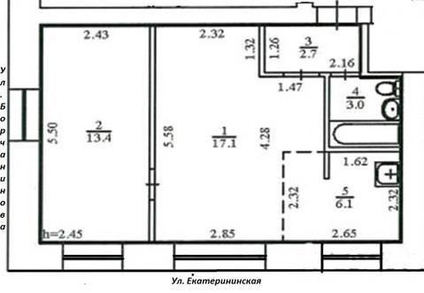2комн.кв. с балконом. Ул. Борчанинова,10 - Фото 2