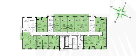 1 ккв. 35,45 м2 в жилом комплексе Цвета радуги 3 оч. корп. 3 - Фото 3