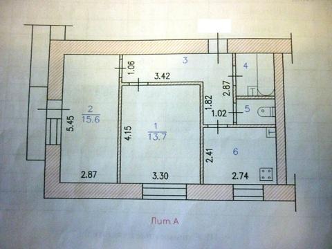 2 ком квартира (46,5 м2) в г. Новочебоксарск. - Фото 2