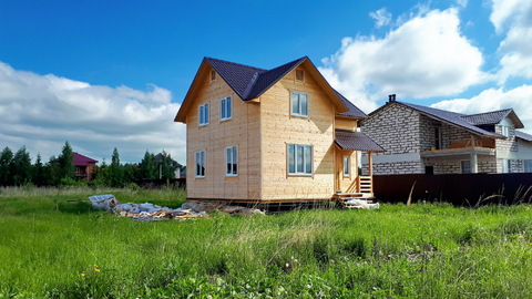 Теплый дом 105м2 на 12сот. ИЖС, свет, вода, рядом озера лес, ж/д станц. - Фото 1