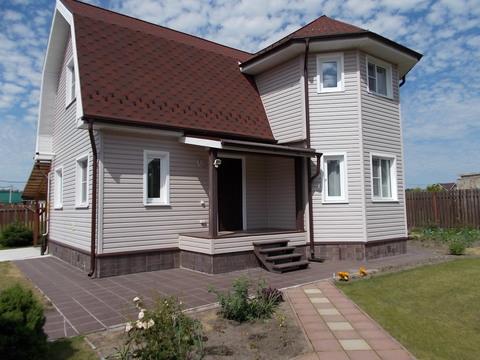 Продается участок 13 соток и 2-х этажный жилой дом 94.6 кв.м. Баня 30 - Фото 1