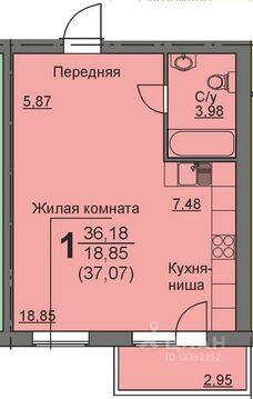 Студия Курганская область, Курган 16-й мкр, 11 (36.6 м) - Фото 1