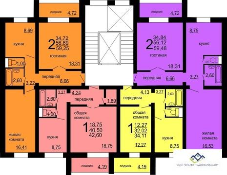 Продам 2-тную квартиру Краснопольский пр 19д,7э 60 кв. м.Цена 2100 т.р - Фото 3