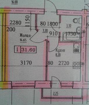 Мозайка, новый дом,1-ком,32 кв, срочно! - Фото 1