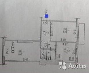 2-к квартира, 48.3 м, 5/5 эт. - Фото 1