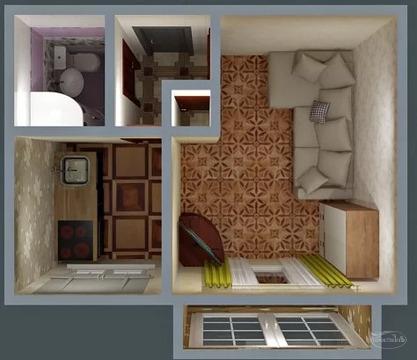 2 100 000 Руб., Своя, собственная, уютная однокомнатная квартира!, Купить квартиру в Симферополе, ID объекта - 335987470 - Фото 1