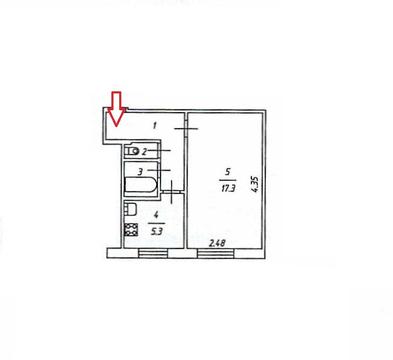 Владимир, Комиссарова ул, д.47, 1-комнатная квартира на продажу - Фото 4