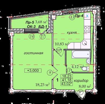 1-к. кв. в Доме на ул. Героев Тулы, 7 - Фото 4