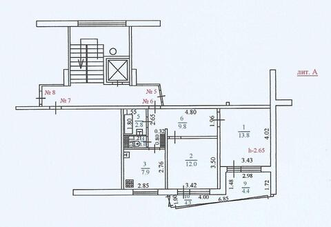 Двухкомнатная Квартира Улучшенной планировки в тихом Центре. - Фото 2