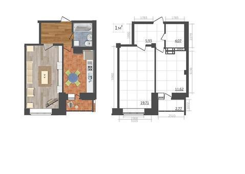 Шоссе Елецкое ii-8; 1-комнатная квартира стоимостью 1450000р. город .
