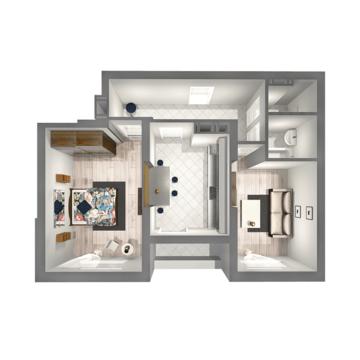 2 комнатная квартира в ЖК Царицынский 4 - Фото 4