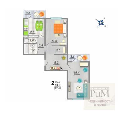 Продам 2 комнатную квартиру в ЖК Цветной Бульвар - Фото 1