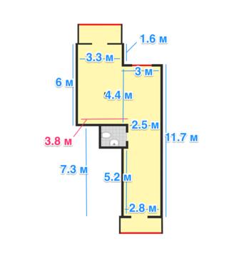 Торговое помещение 56 кв.м. на 1-ом этаже в ЖК «Династия» - Фото 3