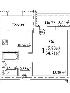 """Продаётся 1к.кв. по адресу: ул. Мончегорская, д. 85 в ЖК """"Авиа"""",4/10 - Фото 2"""