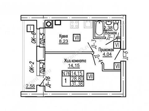 Продажа однокомнатной квартиры в новостройке на Проезжей улице, 31 в ., Купить квартиру в Кирове по недорогой цене, ID объекта - 319841257 - Фото 1