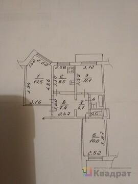 Продается 3-комнатная квартира в панельном доме