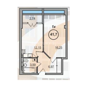 Ленина, 195-а (1-комн.- 41,7 м2), Купить квартиру в Барнауле по недорогой цене, ID объекта - 330872461 - Фото 1
