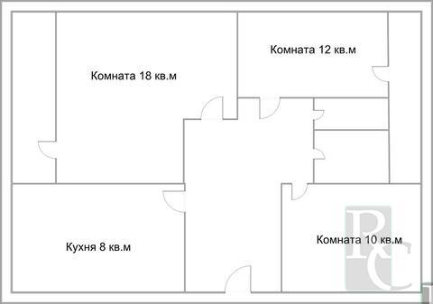 Видовая трехкомнатная квартира на Северной стороне. - Фото 1