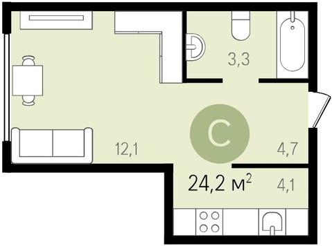 Продам 1-к квартиру, Видное Город, проспект Ленинского Комсомола 1 - Фото 2