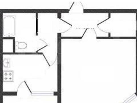 Продажа однокомнатной квартиры на Хрустальной улице, 44к5 в Калуге, Купить квартиру в Калуге по недорогой цене, ID объекта - 319812797 - Фото 1
