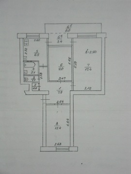 60 000 $, 3-х комнатная, Мойнаки, 2 этаж, Купить квартиру в Евпатории по недорогой цене, ID объекта - 321333052 - Фото 1