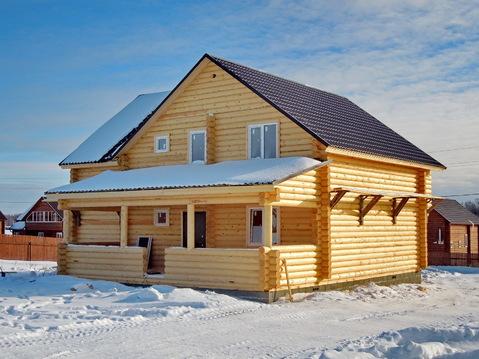 Продается новый дом 200 кв.м. из оцилиндрованного бревна в деревне! - Фото 3