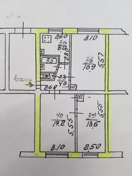 Трёхкомнатная квартира под жильё или коммерцию центр Советского р-на - Фото 5