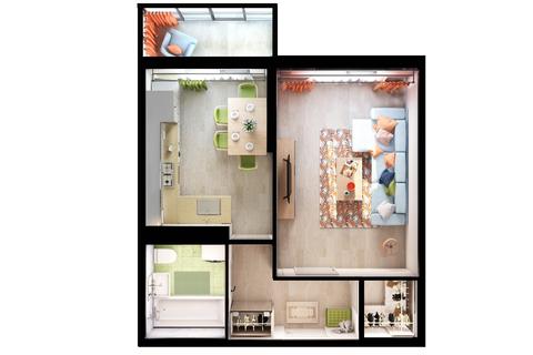 Квартира в новом монолитном доме - Фото 1
