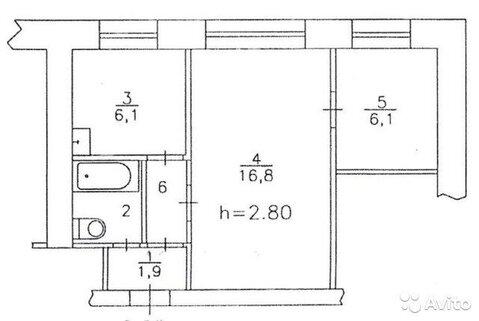 2-к квартира, 35.4 м, 3/3 эт. - Фото 2