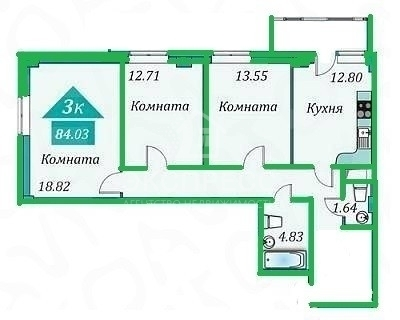 Продам 3-комн. квартиру, Дом Обороны, Таврическая, 9 к 2 - Фото 1