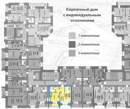 Продается 1-комнатная квартира 41 кв.м. этаж 5/9 ул. Хрустальная - Фото 1